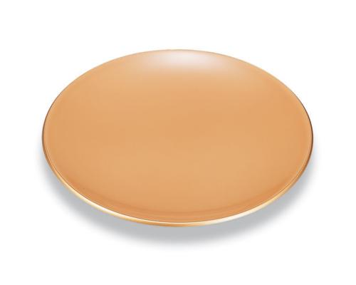 丸皿 白漆 金縁